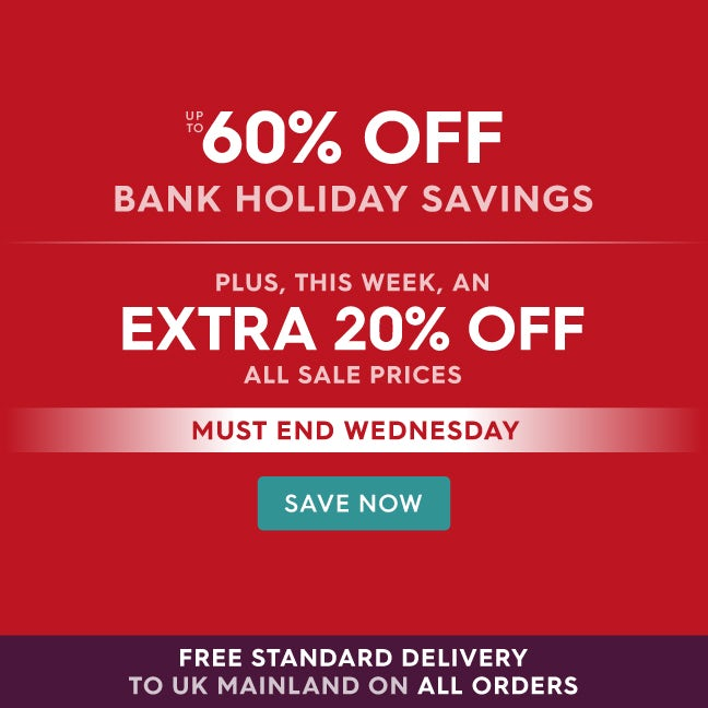 Up to 60% off Bank Holiday Savings