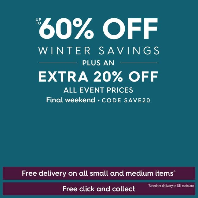 Up to 60% off Winter savings PLUS extra 20% off all event prices