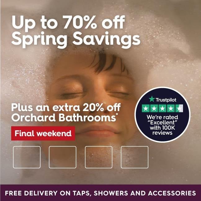 Up to 70% off Spring Savings