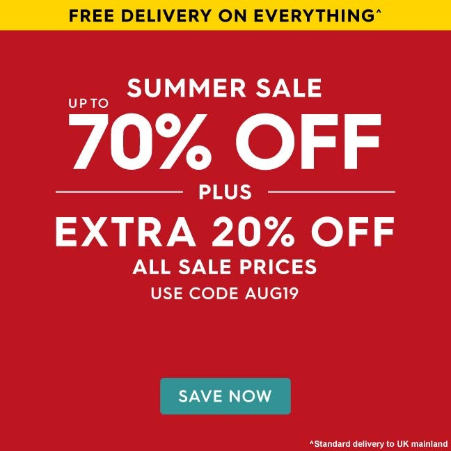 Up to 70% off Summer Sale Plus an extra 20% off all sale prices