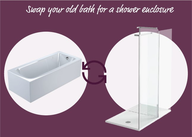 Swap your old bath for a shower enclosure