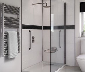 Shower wall panel bundles and installation kits