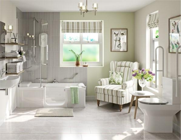 A stylish bathroom for an elderly relative