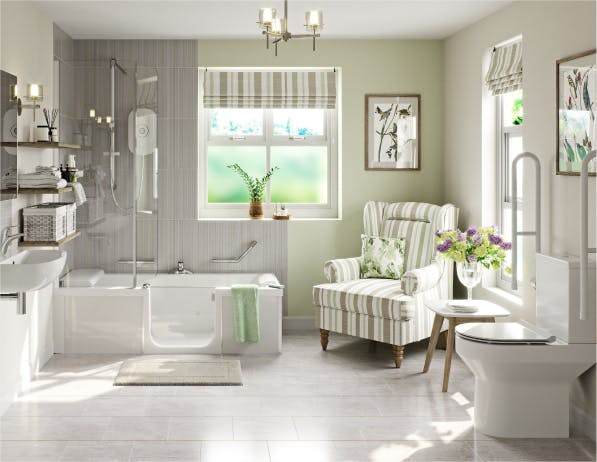 A stylish bathroom for an elderly relative