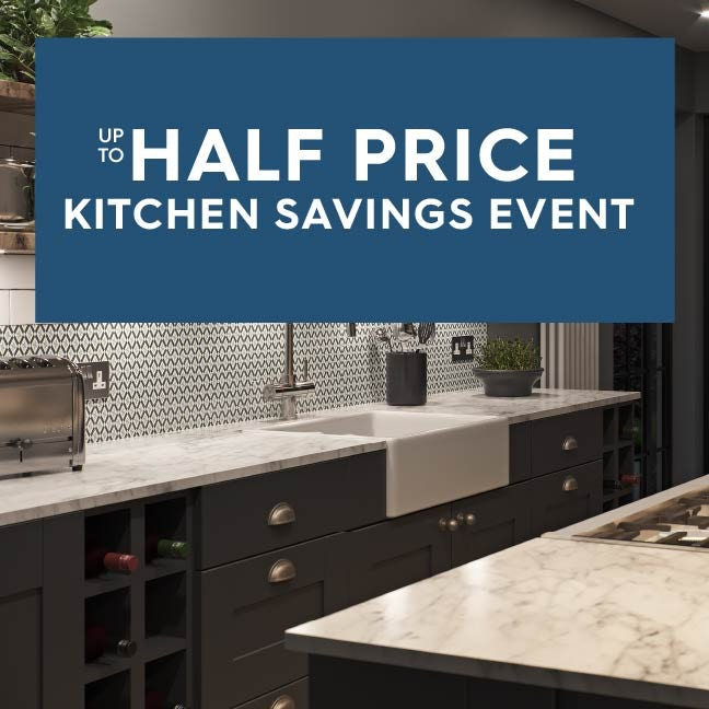 Up to 50% off kitchen savings event