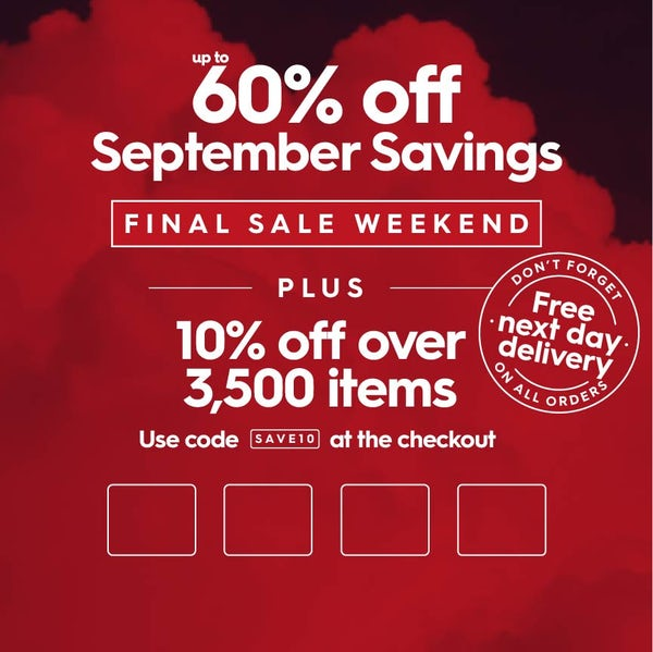 Up to 60% off September Savings