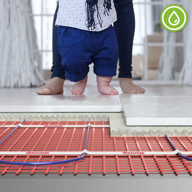 Save energy with underfloor heating