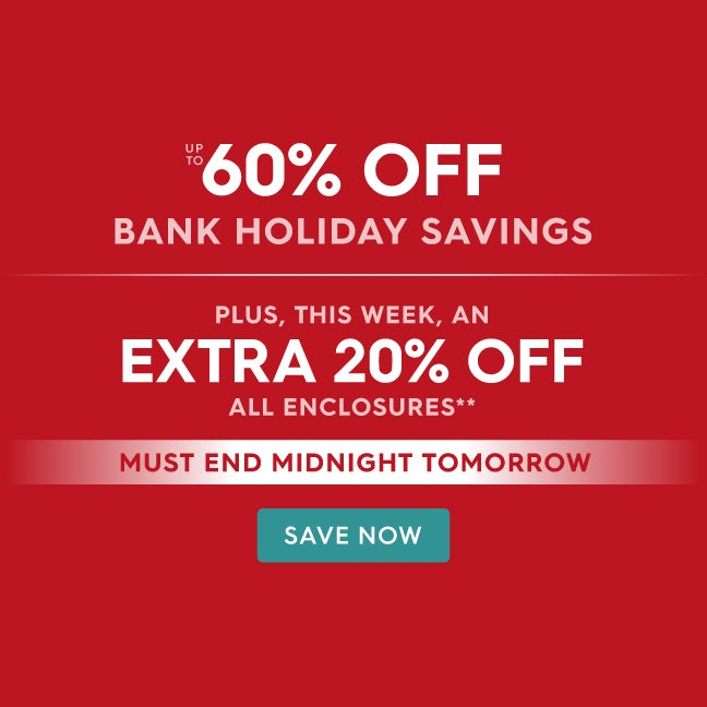 Up to 60% off Bank Holiday Savings