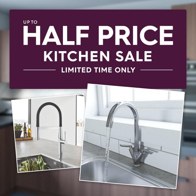 Up to half price kitchen sale
