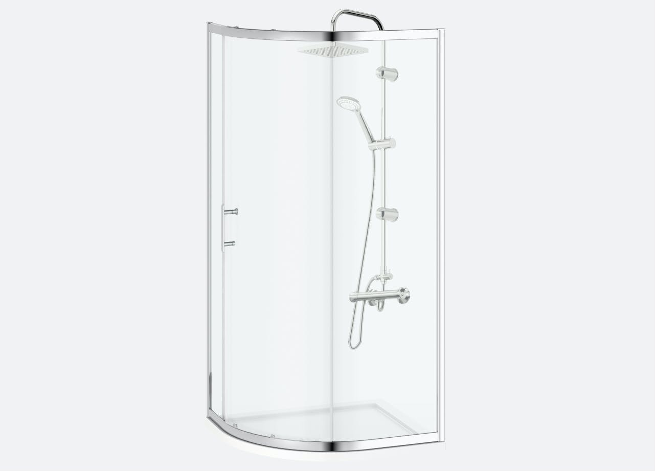 Clarity showers and enclosures