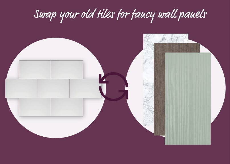 Swap your old tiles or fancy wall panels