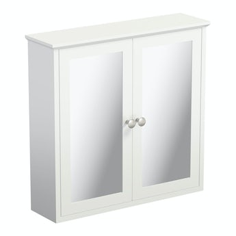 The Bath Co. Camberley white mirror cabinet 598 x 620mm