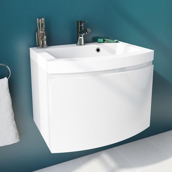 Arte BTW Toilet, Freestanding Bath and Curvaceous Room Set