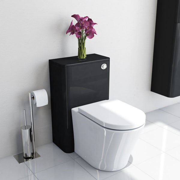 Mode Planet Black Back To Wall Toilet Unit With Vermont