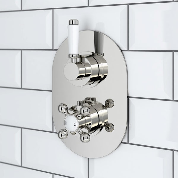 Coniston Thermostatic Valve & Ceiling Shower Set