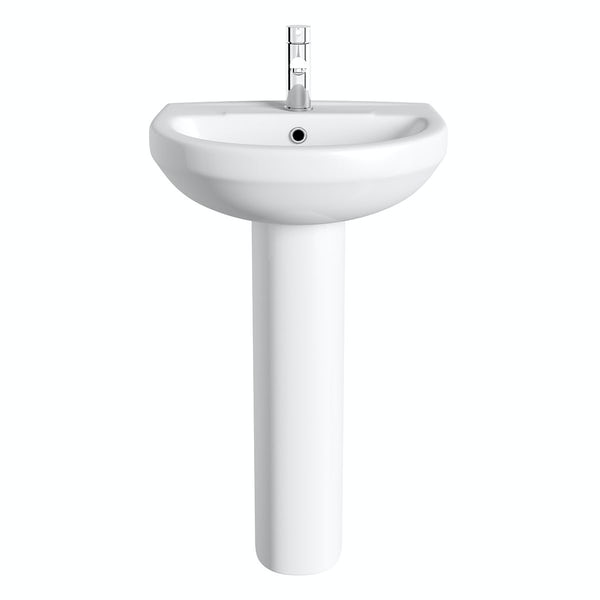 Orchard Eden 1 tap hole full pedestal basin with tap