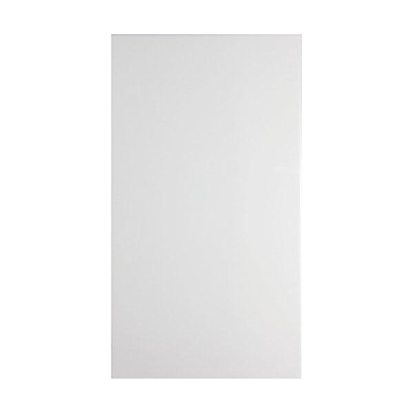 Clarity plain flat gloss white wall tile 250mm x 400mm