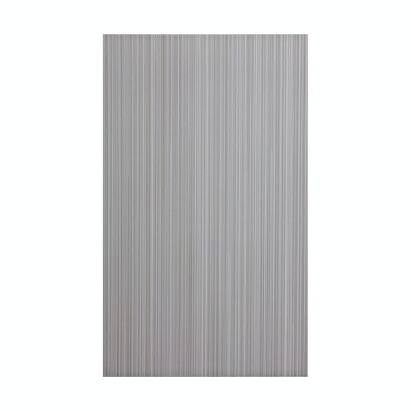 British Ceramic Tile Linear Grey Gloss Tile 248mm X 398mm