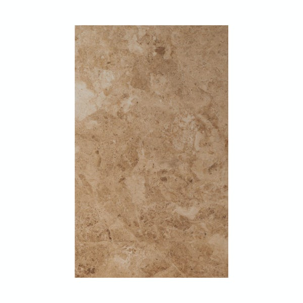 British Ceramic Tile Face dark beige matt tile 298mm x 498mm