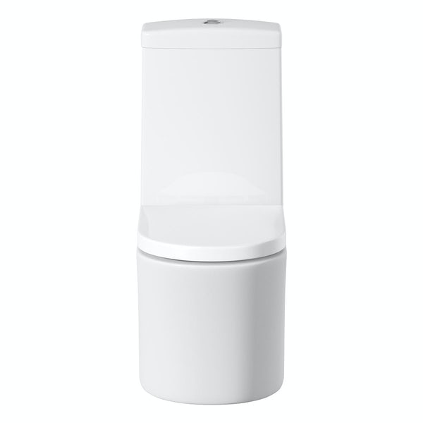 Tate Close Coupled Toilet inc. Quick Release Soft Close Seat