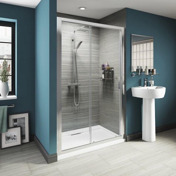 8mm Framed Sliding Shower Door 1200 With Tray
