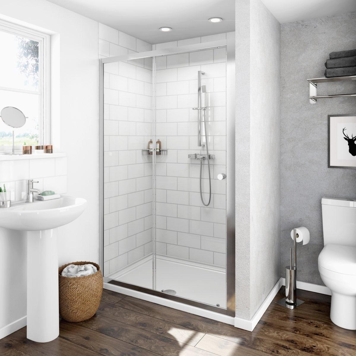 Clarity 4mm Sliding Shower Door Victoriaplum Com