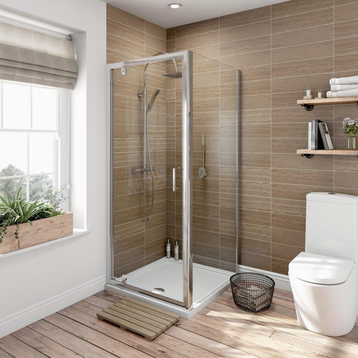 6mm pivot door rectangular shower enclosure