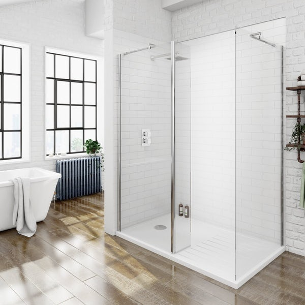 Victoria Plumb Showers >> 8mm Walk In Shower Enclosure Pack Special Offer