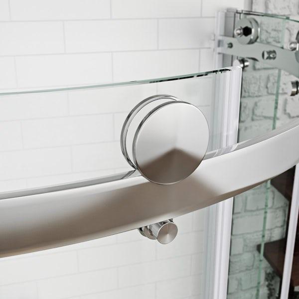 Shower Cubicles Plan: 8mm Frameless Offset Quadrant Shower Enclosure 1200 X 900