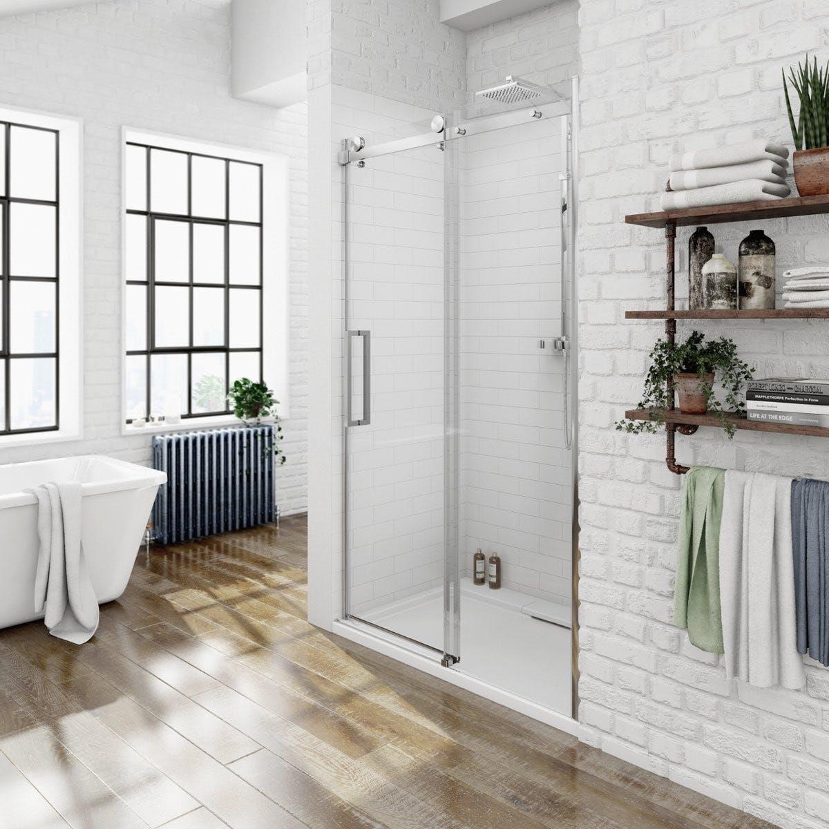 Luxury 8mm Frameless Sliding Shower Door 1200mm