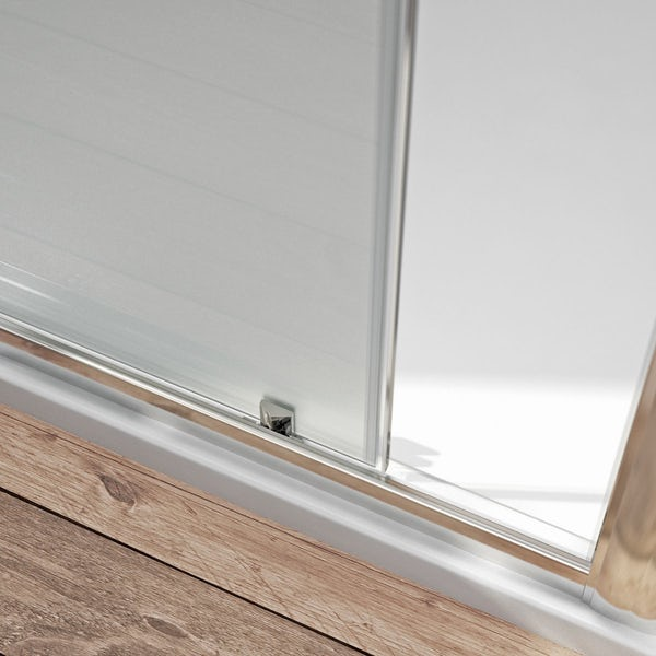 6mm Frosted Glass Sliding Shower Door 1200