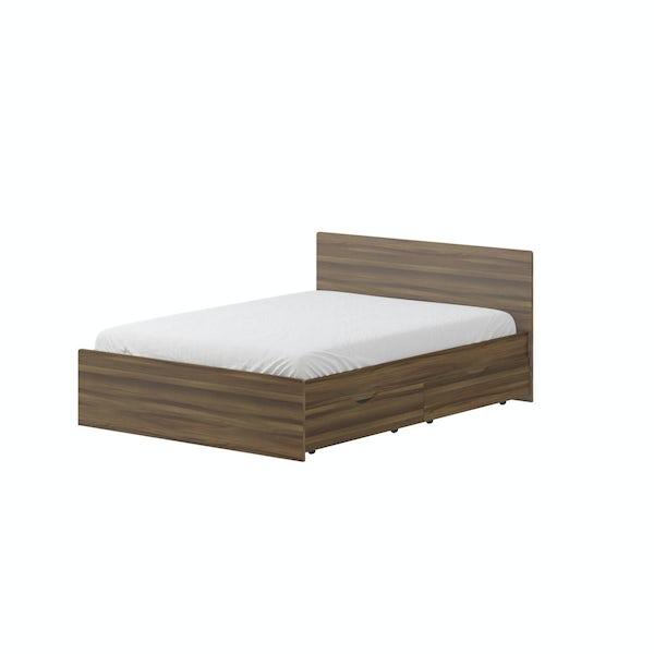 London Walnut 5'0 Bed in Walnut