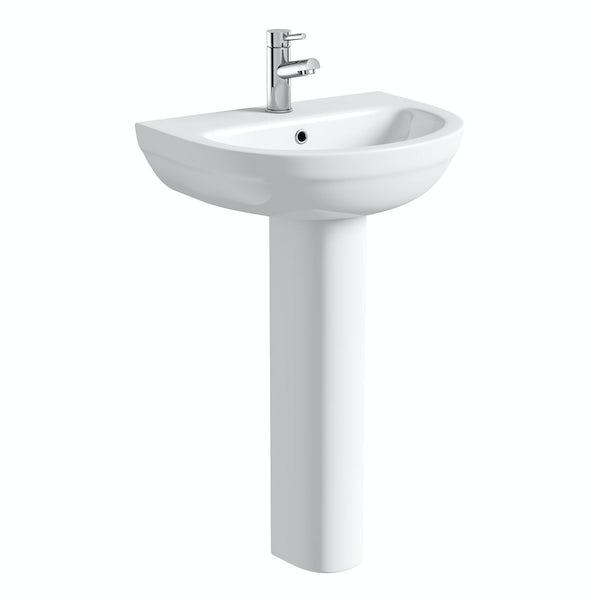 Orchard Balance 1 tap hole full pedestal basin 540mm