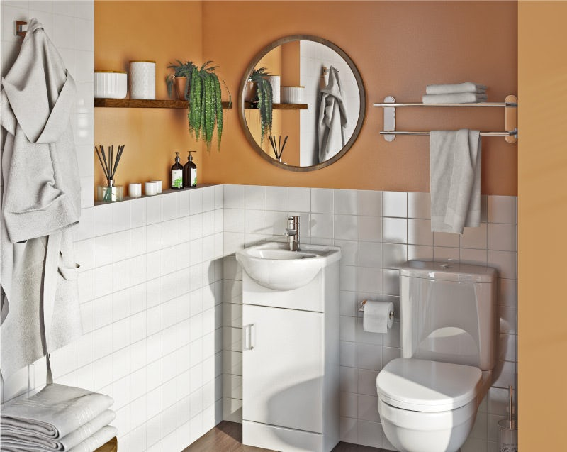 Marigold yellow bathroom colour ideas