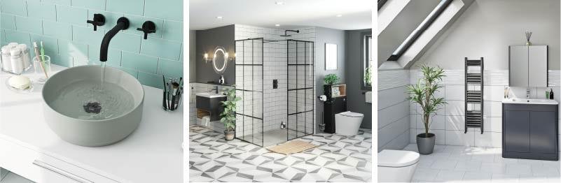 Black Accents bathroom trends 2021