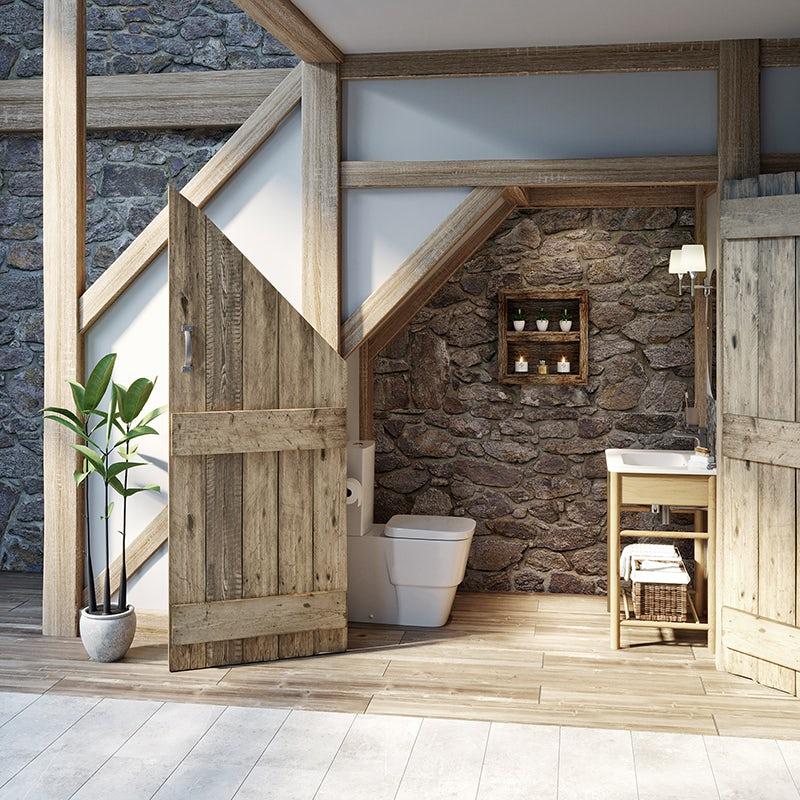 Country style bathroom—understairs cloakroom