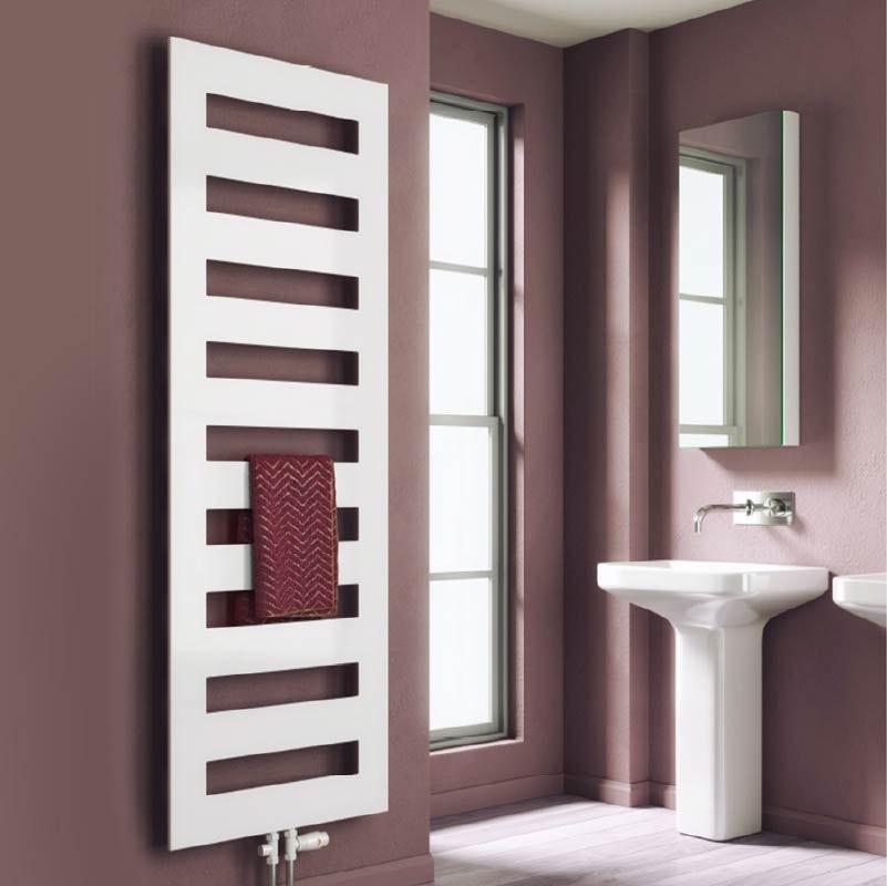 Reina Fondi white steel designer towel rail