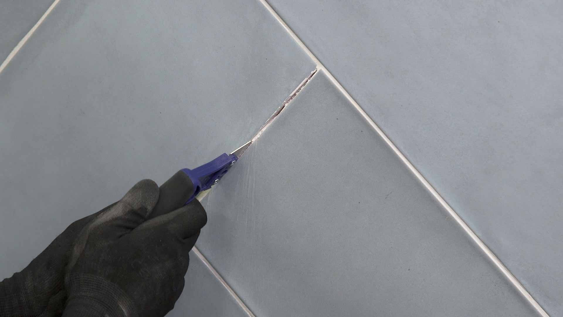 how to remove old grout 1