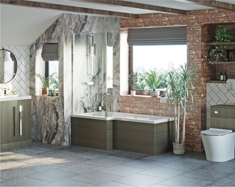 Natural Elements bold bathroom