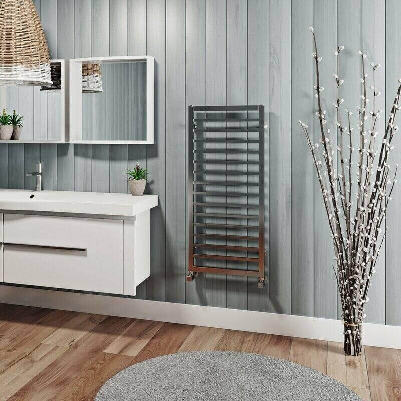 The Heating Co. Lagos chrome heated towel rail