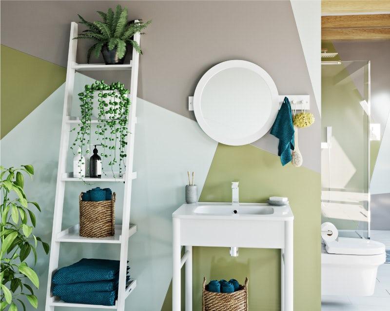 Colourful Creative ladder shelving