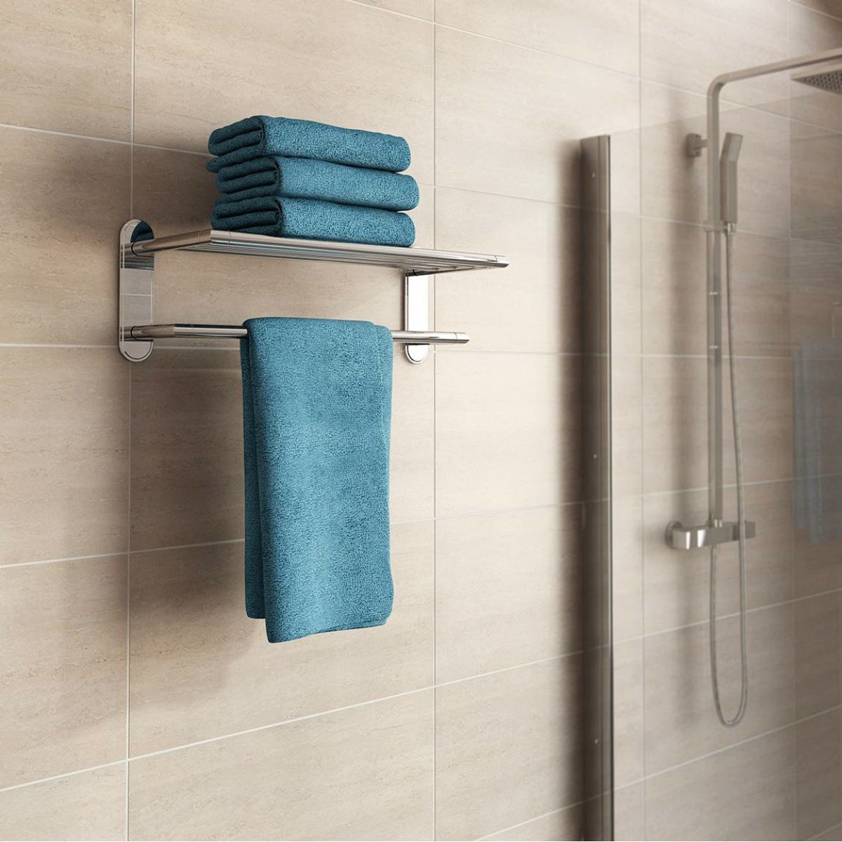 Accents Options contemporary towel shelf