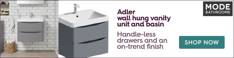 Mode Adler grey 800mm wall hung vanity unit and basin