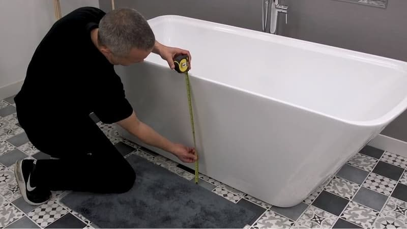 Measuring the bath height