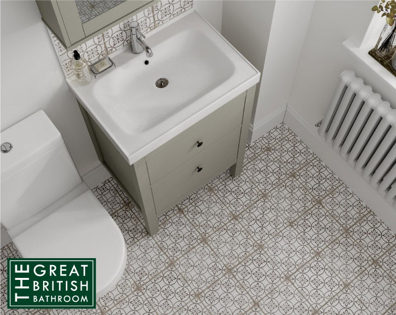 Aragon petal grey matt wall and floor tile 200mm x 200mm