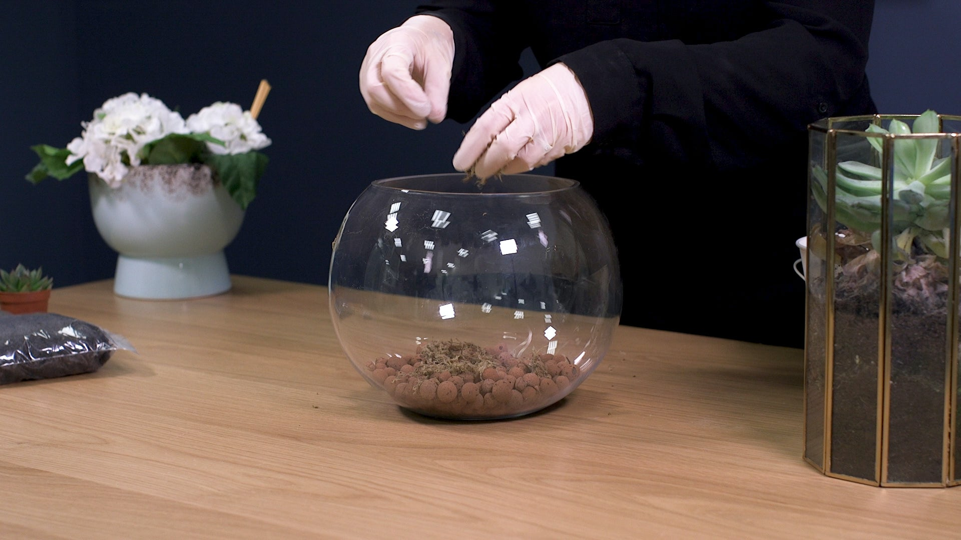 How to make a terrarium step 2