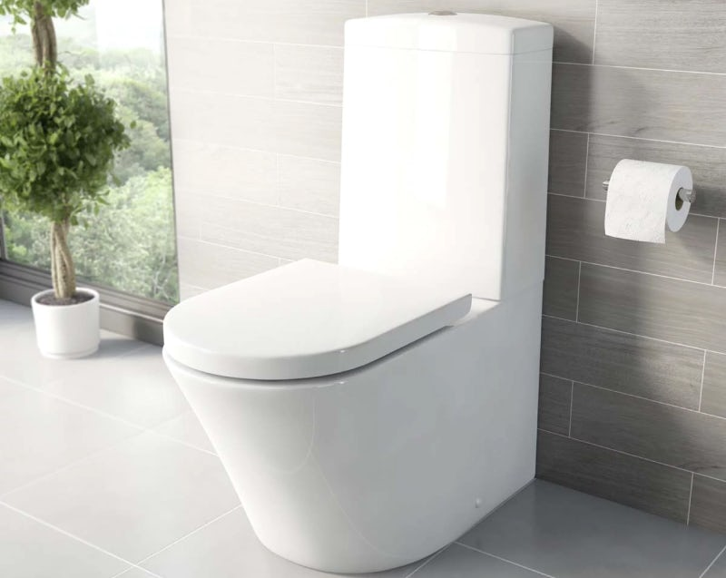 Mode Tate close coupled toilet with soft close seat