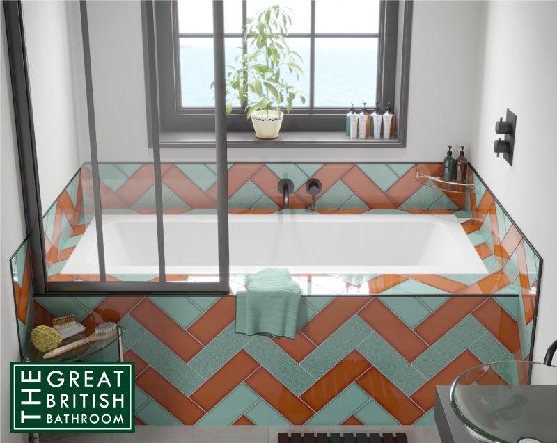 Maximalism bathroom design