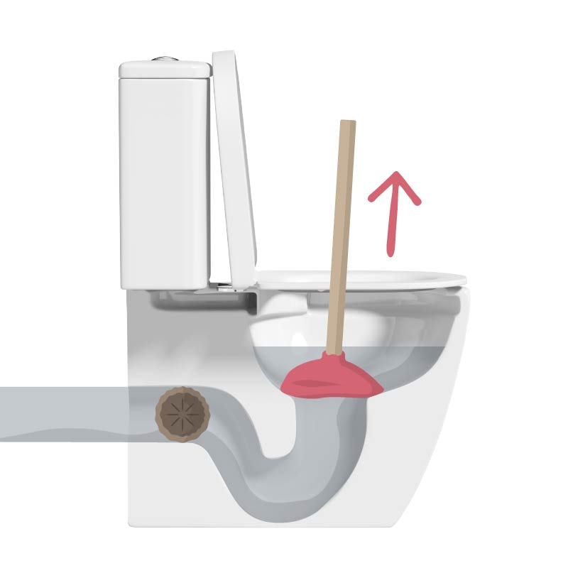 How to unblock a toilet using a plunger step 2