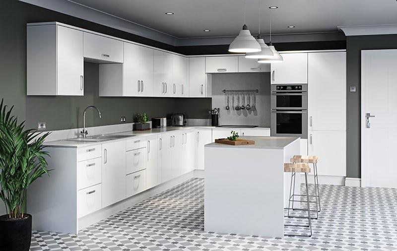 Schön Boston white kitchen cabinet range